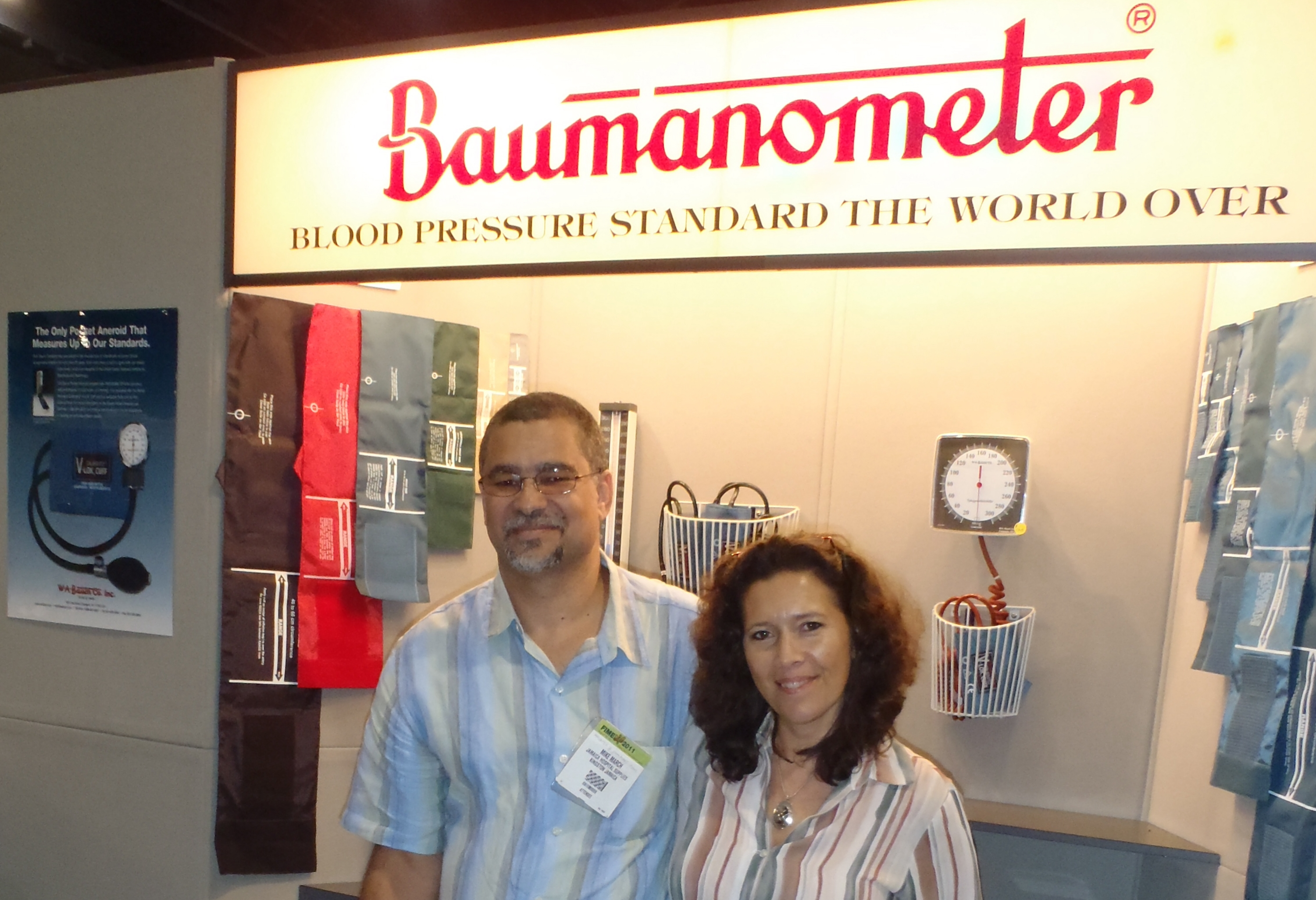 ... expo company members tanya and michael visited jim baum of w a baum